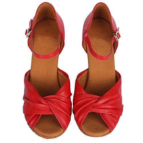 Danza Zapatillas Zapatos Modelo Latinos Salón de Salsa Baile amp;Niña Mujeres de Rojo ESAF810 Baile Calzado de YKXLM de Performance qFYZw1x