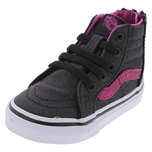 Vans Girls SK8-Hi High-Top Fashion Sneakers Black 5 Medium (D) Toddler
