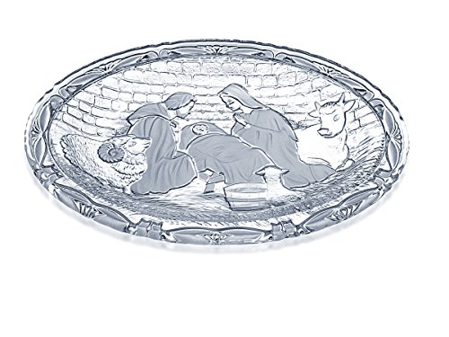 - Celebrations by Mikasa Rejoice Crystal Nativity Plaque, 9-3/8-Inch