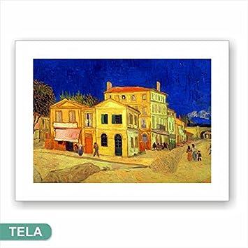 Cadres L U0026 C Italie Van Gogh La Maison Jaune U2013 Impression Sur Toile 60 X