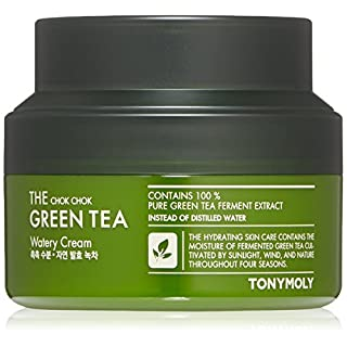 TONYMOLY The Chok Chok Green Tea Watery Cream, 2.02 Fl Oz