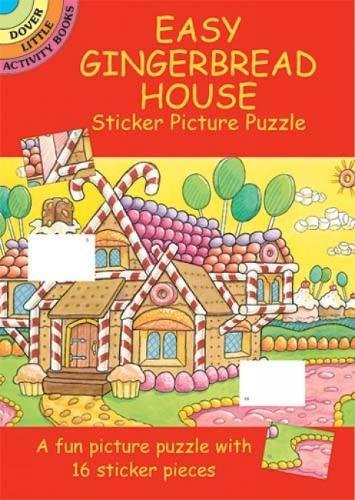 Easy Gingerbread House Sticker Picture Puzzle (Dover Little Activity - Sticker House Gingerbread Activity