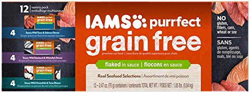 DISCONTINUED: IAMS PURRFECT Grain Free White Meat Chicken Breast & Tuna Recipe Canned Cat Food 2.47 oz. (24 Pack)