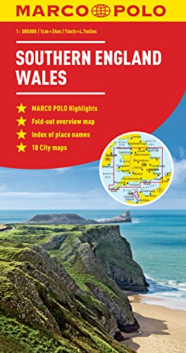 Southern England Wales Marco Polo Map (Marco Polo (England Map)