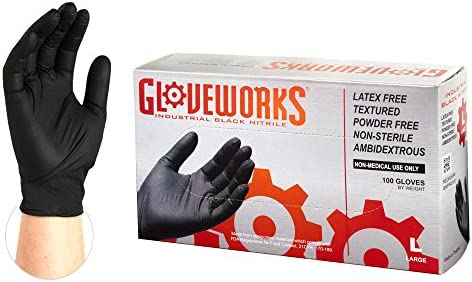 AMMEX Industrial Nitrile Disposable Gloves