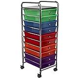 Saganizer rolling cart 10-Drawer Rolling Organizer High Quality storage cart