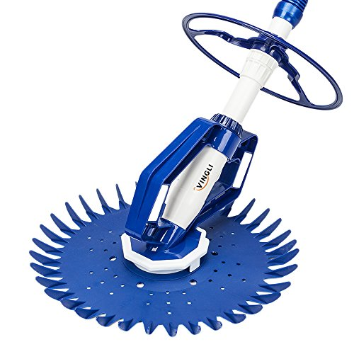 VINGLI Automatic in-Ground Pool Cleaner Suction-Side Vacuum-Generic Climb Wall Pool Sweeper ()