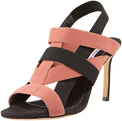 Manolo Blahnik Orina Blush Black Heeled Sandals