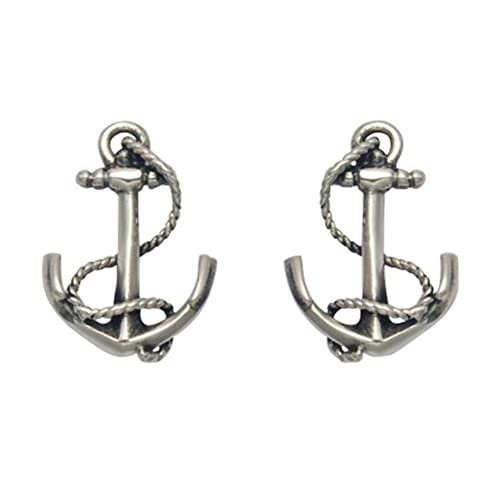d4db8e989 Image Unavailable. Image not available for. Color: Stainless Steel Nautical  Anchor Stud Earrings