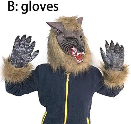 Envisioni Máscara de Animal, Accesorios de Sombreros de Lobo Gris ...