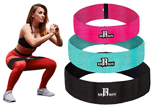 RIMSports Resistance Bands Best Exercise Bands for Booty - Ideal for Resistance Bands for Legs and Butt - Premium Workout Bands for Hips & Glutes Exercises