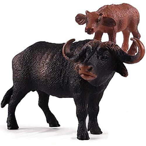 Kolobok - Safari Animals Action Figures - Wild Bulls - Zoo Animals Educational Toys -2 pcs Playset ()