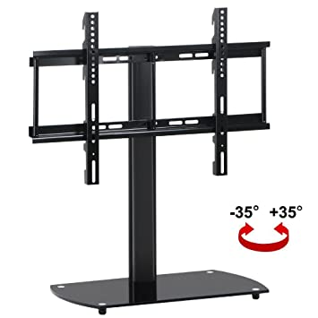 Topeakmart Swivel Universal TV Stand/Base Tabletop TV Stand With Mount Up  To 50 Inch