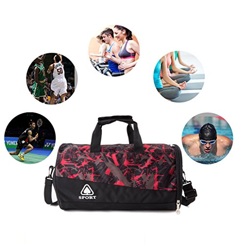 286d93a0061 Small Sports Gym Bag with Shoes Compartment, Water Resistant Travel Duffel  Bag for Men,Women and Te