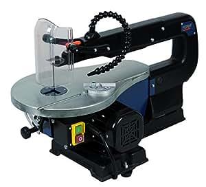 Ferm SSM1005 - Sierra de calar con hojas de sierra y tubo de soplar el polvo (90 W, 230 V)