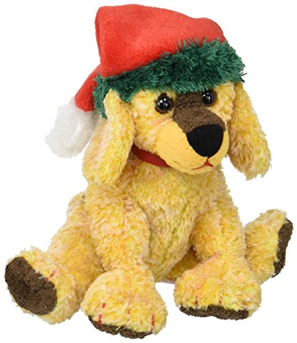 Ty Beanie Baby Jinglepup the Dog w Green Brim Holiday Hat