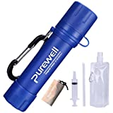 water filter lightweight camping - Protable Mini Water Filter Straw for Camping, Reusable Survival Purifier Straw 0.01 Micron Outdoor Filter, for Emergency Hiking Traveling