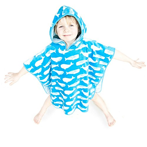 Hooded Beach Towel - Super Soft And Thick Kids Hooded Poncho Towel For Boys And Girls Aged 1-10 years Large And Small Sizes Ideal from Beach Time To Bath Time (Cool Blue, Small (0-5yrs))