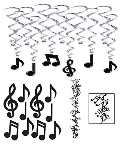 J&J's ToyScape Music Notes Party Decoration Set (Includes Garland - 25