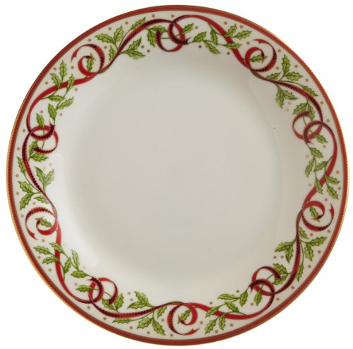 "Pickard""Winter Festival"" Fine China 9-3/8-Inch Salad Plate, Set of 4"
