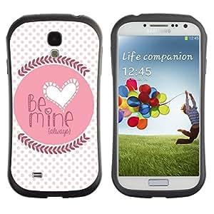 """Hypernova Slim Fit Dual Barniz Protector Caso Case Funda Para SAMSUNG Galaxy S4 IV / i9500 / i9515 / i9505G / SGH-i337 [Cita del amor de amante de la novia del lunar""""]"""