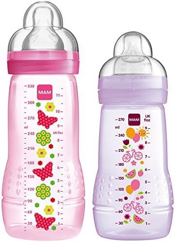 MAM Baby Girls Romper Pink//Purple