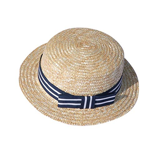 Tantisy ♣↭♣ Mom and Kid Spring Summer Outdoor Bowknot Sun Hat/Straw Hat/Bucket Hat/Beach Sun Protection Hats
