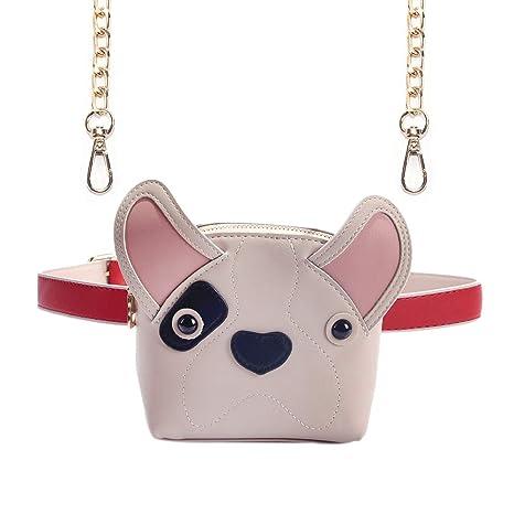 a9adbde2ac16 Fashion Cute Fanny Pack Dog Shape Leather Crossbody Shoulder Bag for Kids  Girls