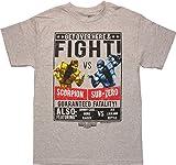 Mortal Kombat Fight Scorpion vs Sub-Zero T-Shirt, X-Large
