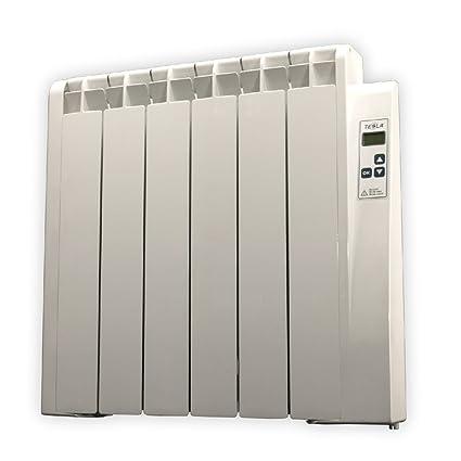 farho Tessla - Radiador Eléctrico de bajo Consumo 750 W, Digital Programable y con opción