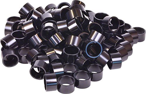 Wheels Manufacturing Bulk Headset Spacers 1-1/8 x 20mm Black Bag of 100