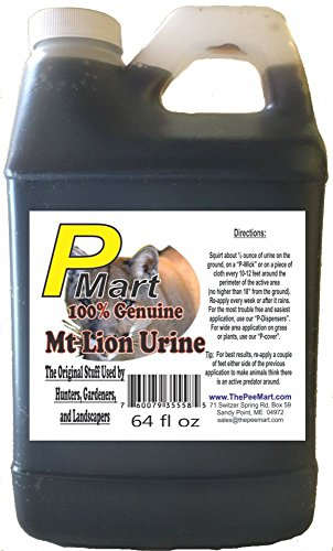 The Pee Mart - Mountain Lion Urine 64 oz Bulk Filler!