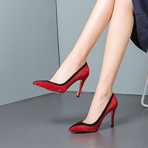 Chaussures Matte Femmes Pointu Stilettos à Femmes Hauts Talons Les Pour MUYII 75PwYq