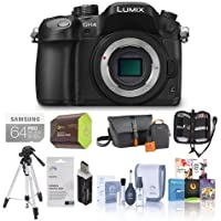 Panasonic Lumix DMC-GH4 Digital Camera Body, Black. Value Kit with Acc