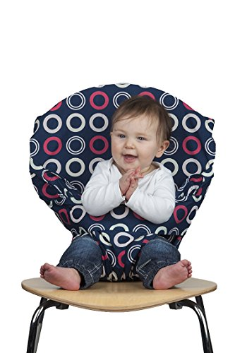 Totseat Chair Harness: The Original Washable and Squashable, Portable Travel High Chair in Blueberry