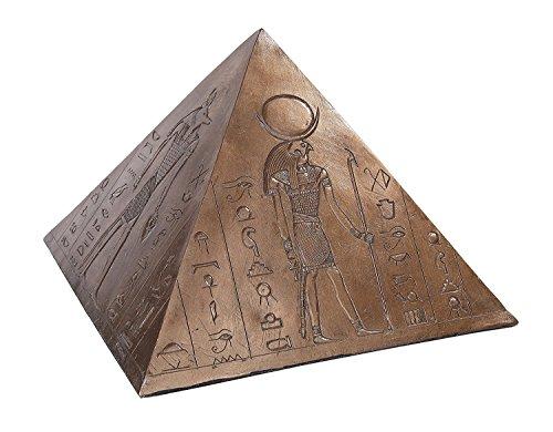 PTC 10 Inch Egyptian Pyramid Keepsake Urn Bronze Finish Statue Figurine