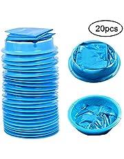 Bolsa de vómitos de 20 piezas, bolsa de vómitos para náuseas causadas por el movimiento, bolsa de vómitos desechable de 1000 ml, sellable, a prueba de fugas y duradera