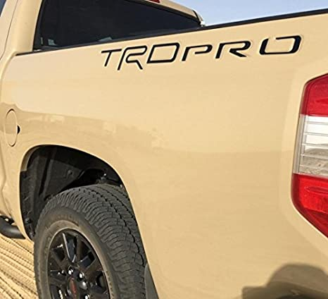 BDTrims Truck Bed Raised Letters Compatible with Tundra TRD Pro 2014-2020 Models Both Sides Red