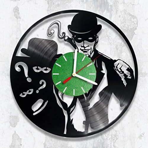 Amazon.com: The Riddler Vinyl Record Wall Clock Handmade