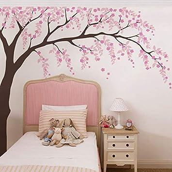Baby Girls Room Tatuajes de pared Flor de cerezo Árbol Decoración ...