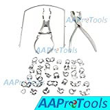 AAPROTOOLS STARTER RUBBER DAM KIT OF 43 DENTAL MEDICL INSTRUMENTS A+ QUALITY