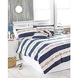 Riva Home Reef Duvet Sheet and Pillowcase Set (Full) (Blue)