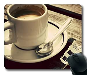 A Cup of Coffee-1 Rectangle Mouse Pad by Sakuraelieechyan