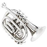 Eastar ETR-330N Pocket Trumpet Bb Nickel Plated