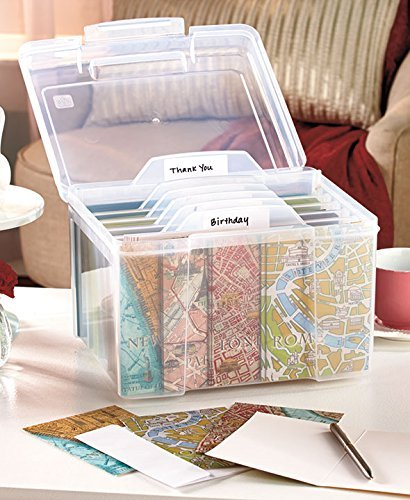 Greeting Card Organizer with Dividers ()