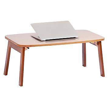 TH Mesa de Escritorio del Ordenador portátil 100% de bambú Desayuno Plegable Bandeja de la Cama Escritorio (Tamaño : 80 * 34cm): Amazon.es: Hogar