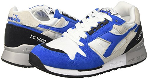 Basso Nyl c bco Diadora Unisex Collo Principessa azzurro Sneaker A nero I adulto Bianco Ii 4000 8tw75qax7