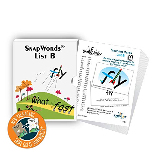 (SnapWords List B Teaching Cards - Sight Words)