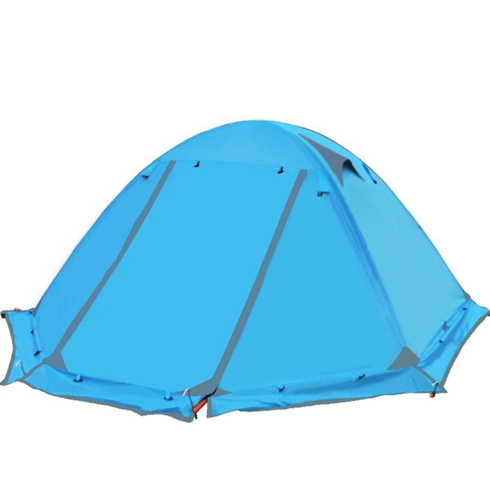 fhgj観光テントアウトドアキャンプテントRest旅行2 Persons 3二層防風防水冬のプロフェッショナルCamp  ブルー B07D13VRPS