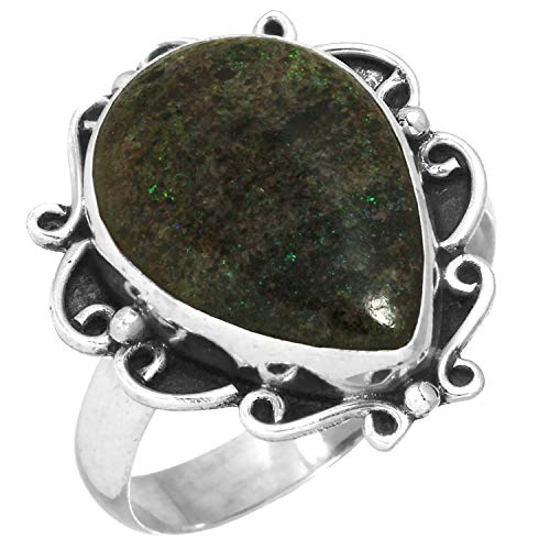 Matrix Opal Ring - Natural Honduran Black Matrix Opal Ring Solid 925 Sterling Silver Latest Jewelry Size 10